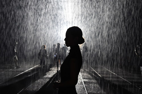 Rainroom at Yuz Museum Shanghai 2015 (PRNewsFoto/VW Volkswagen AG)