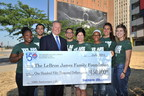Sherwin-Williams $150,000 Check Presentation to the LeBron James Family Foundation, commemorating S-W's 150th anniversary