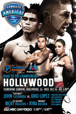"REY MYSTERIO IS NAMED AMBASSADOR FOR COMBATE AMERICAS - THE LIVE EVENT FIGHT THAT WILL AIR ON NBC UNIVERSO ON WEDNESDAY, DEC. 16. Former WWE Star Konnan To Serve As Color Commentator For Live Telecast of Combate Americas ""Road To The Championship Hollywood"". Live, Four-Fight NBC UNIVERSO Telecast Begins at 11 p.m. ET/8 p.m. PT on Wednesday, Dec. 16. Official Fighter Weigh-In Takes Place on Tuesday, Dec. 15 in Burbank, Calif."
