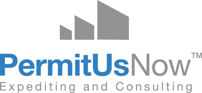 PermitUsNow one-stop building permit expediting service logo.