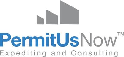 PermitUsNow one-stop building permit expediting service logo.