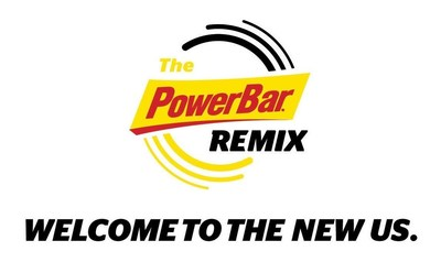 """New PowerBar logo, """"Welcome to the new us."""""""