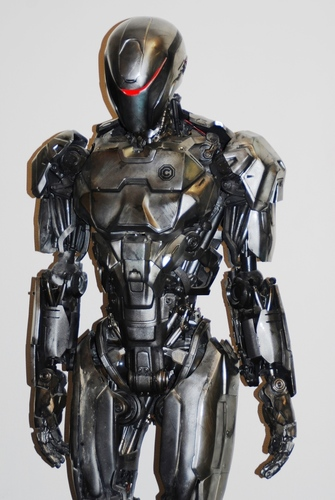 RoboCop suit and helmet designed and produced by Legacy Effects using Stratasys Objet Connex multi-material 3D printing (PRNewsFoto/Stratasys Ltd_)