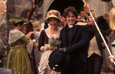 "This February Biltmore in Asheville, N.C., will exhibit ""Fashionable Romance: Wedding Gowns in Film."" Costumes from more than 40 feature films will grace the rooms of Biltmore House, including the dress Emma Thompson wore in ""Sense and Sensibility,"" seen here in a photo from the 1995 movie. Wedding stories about Biltmore founder George Vanderbilt and his wife, Edith, and other family members, will also be shared. Photo credit: SENSE AND SESNSIBILITY (C)1995 Columbia Pictures Industries, Inc. All Rights..."