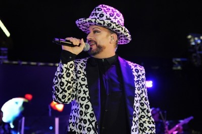 Boy George at the Grand Opening Celebration of SLS Brickell Hotel & Residences in Miami on Thursday November 17, 2016. Photo Credit: Seth Browarnik/WorldRedEye.com