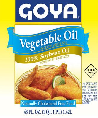 "Goya Foods updates label to showcase ""100% Soybean Oil""."