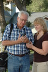 COPD patient uses a pulse oximeter for home use.