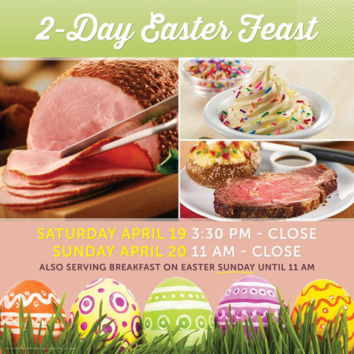 Celebrate Easter with Ryan's, HomeTown Buffet and Old Country Buffet as they serve up family favorites all weekend long. (PRNewsFoto/Ovation Brands) (PRNewsFoto/OVATION BRANDS)