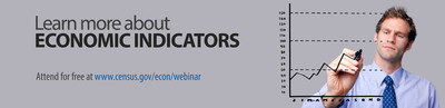 Discover the U.S. Census Bureau's economic statistics through the 2013 Economic Indicator Webinar Series. Each of the 13 economic indicators in this webinar series will provide an in-depth description of how the critical economic indicator data are collected and how you can access and use these statistics. Sessions include construction, housing, international trade, retail trade and more. Learn how these timely, reliable and comprehensive economic statistics can enhance your business knowledge. For more information, visit: https://www.census.gov/econ/webinar/. (PRNewsFoto/U.S. Census Bureau) (PRNewsFoto/U.S. CENSUS BUREAU)