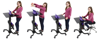 Ergotron LearnFit(TM) Adjustable Standing Desk (PRNewsFoto/Ergotron, Inc.)