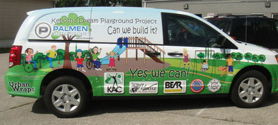 Palmen Automotive donates van to support area handicap children.  (PRNewsFoto/Palmen Buick GMC Cadillac)