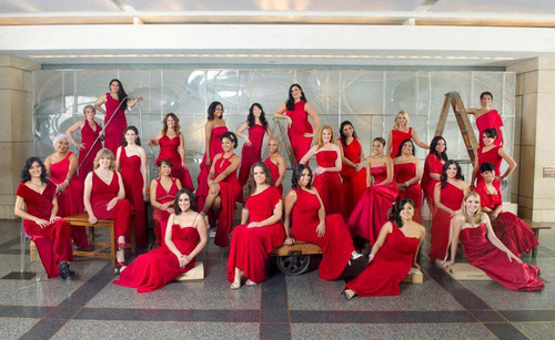 EHE International launches its 10th annual Red Dress Campaign to promote heart health for women. The photo ...