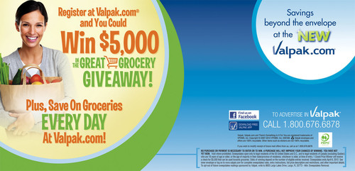 Enter the Valpak® Great Grocery Giveaway Sweepstakes for Chance to Win $5,000