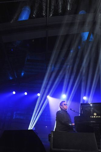 Elton John performing at Battersea Power Station Annual Party