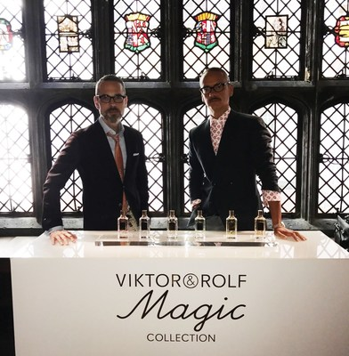 Viktor Horsting and Rolf Snoeren with their new Magic Collection (PRNewsFoto/Viktor&Rolf)