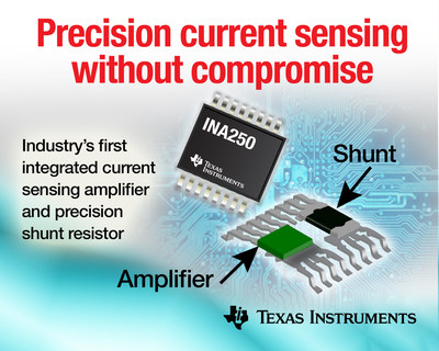 TI makes high-accuracy measurement more attainable with the first current-sense amplifier to integrate a high-precision, low-drift shunt resistor