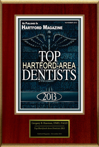 "Gregory B. Haroian, DMD, FAGD Selected For ""Top Hartford-Area Dentists 2013"".  (PRNewsFoto/American Registry)"