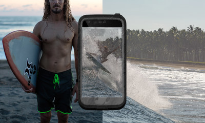 LifeProof FRE for LG G5 provides waterproof, drop proof, dirt proof and snow proof protection.