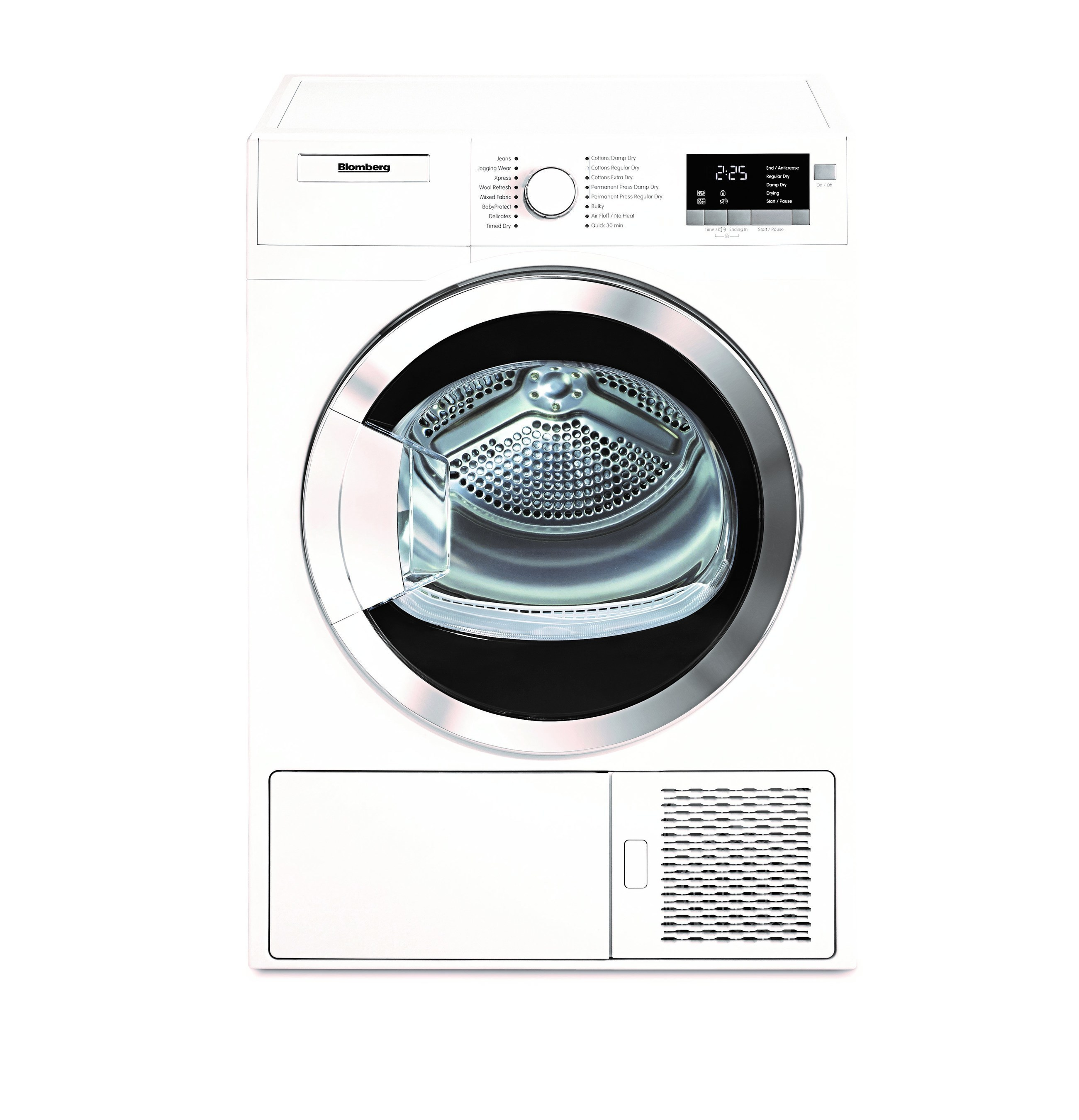 Blomberg's Ventless Heat Pump Dryer is the most energy-efficient in its class, and uses 50 percent less energy and 40 percent lower circulating air temperature than compact air-vented dryers.