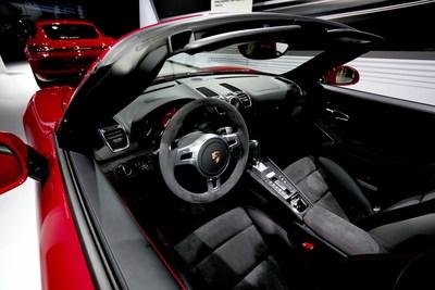 Porsche 911 Carrera GTS convertible featuring Alcantara.