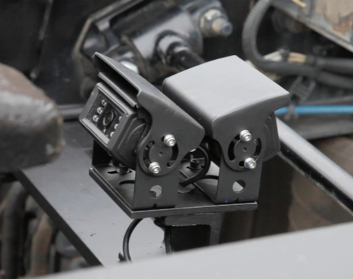 Fontaine Fifth Wheel's patent-pending Dual Assist Camera System will assist truck drivers in coupling to trailers. It will be available through OEM providers and Fontaine distributors this fall. (PRNewsFoto/Fontaine Fifth Wheel)