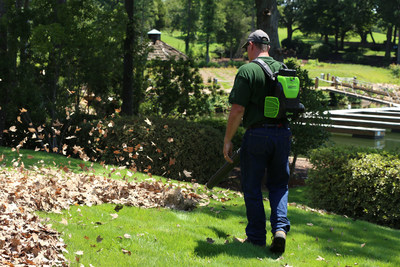 Greenworks Commercial launches dedicated line of battery-powered outdoor power equipment for landscaping professionals. GBB600 Backpack Blower seen here.