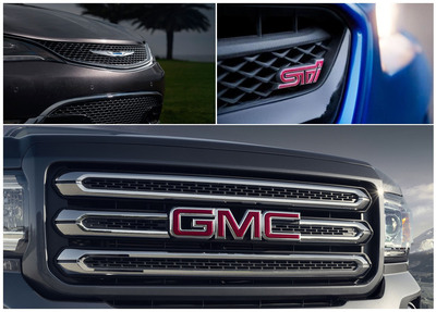 Among the 2015 models recently covered by Briggs Auto are the redesigned Chrysler 200, performance-tuned Subaru WRX and brand new GMC Canyon.  (PRNewsFoto/Briggs Auto Group)