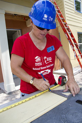 More than 15,000 women across the country, including Lowe's Heroes employee volunteers, are expected to build or repair homes at Habitat for Humanity construction sites in recognition of National Women Build Week, May 2-10.