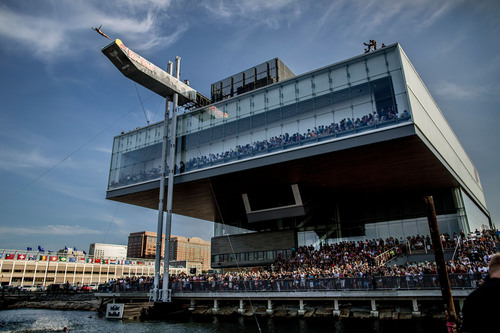 Red Bull Cliff Diving World Series Soars into Boston Harbor on August 25, 2012 for it's fifth stop in the ...