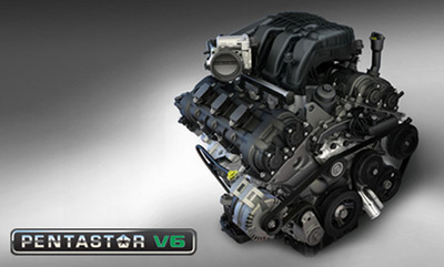 The Pentastar 3.6L V-6, Chrysler new workhorse, will power 13 vehicles across Chrysler Group's lineup; about 44% of new Chrysler vehicles in 2013.  (PRNewsFoto/Briggs Chrysler)