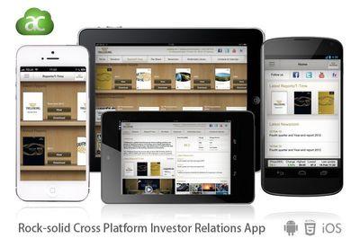Rock-solid Cross Platform Investor Relations App (PRNewsFoto/TOUCHIFY SOLUTIONS AB)