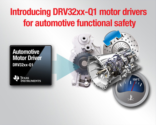 Introducing TI's motor driver family for automotive functional safety.  (PRNewsFoto/Texas Instruments)