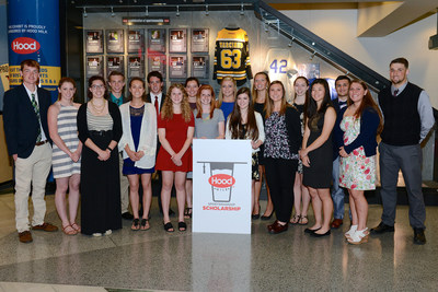 HP Hood, New England's leading dairy processor, awarded 18 high school seniors with a $5,000 Hood(R) Milk Sportsmanship Scholarship. During a ceremony held at the TD Garden, three high school seniors from each New England states were honored for their integrity and sportsmanship both on and off the playing field.  Students will also be included in the Sportsmanship Exhibit inside The Sports Museum at the TD Garden - one of the only sportsmanship exhibits in the country.