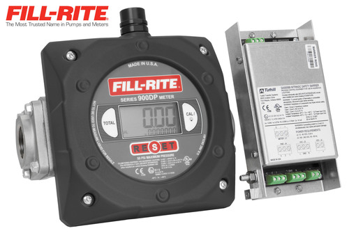 Fill-Rite, the industry leader in fuel transfer pumps, meters and accessories, has released the 900DP; the first and only digital meter with integral pulser and matched intrinsically safe barrier. The 900DP's pulser is engineered for the latest fuel management systems.  (PRNewsFoto/Tuthill Corporation)
