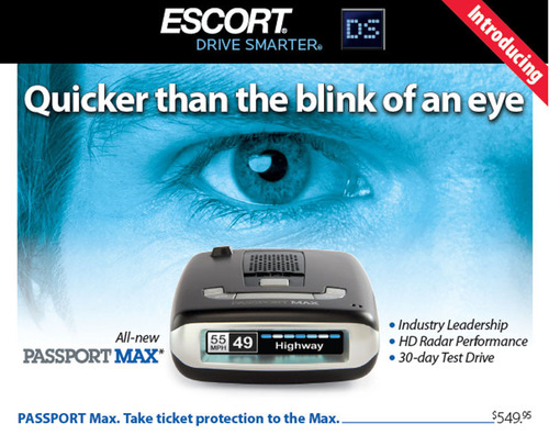 PASSPORT Max radar detector.  (PRNewsFoto/ESCORT Inc.)