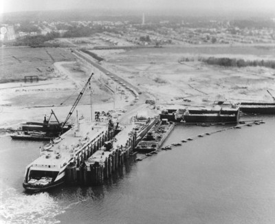 Cape May-Lewes Ferry - Cape May Terminal, 1964. (PRNewsFoto/Cape May-Lewes Ferry)