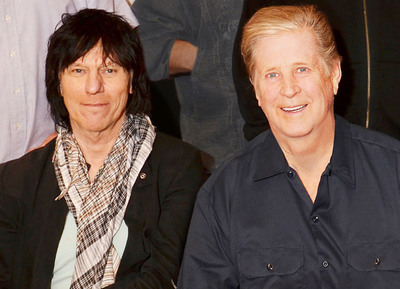 Jeff Beck (right) and Brian Wilson (left).  (PRNewsFoto/Live Nation)