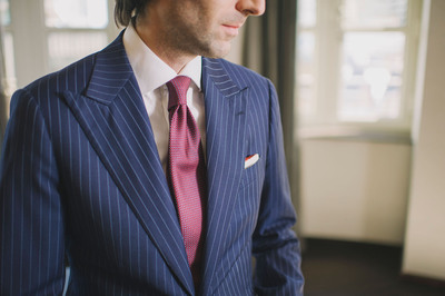 The Garrison Bespoke bulletproof suit is a discreet and stylish alternative to the traditional bulky Kevlar vest.  (PRNewsFoto/Garrison Bespoke)