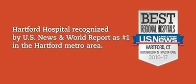 Hartford Hospital is named number 1 in the Hartford region by US News & World Report