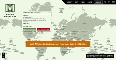 Visit MillionDollarMap.com Now and Win 2 x $5,000! (PRNewsFoto/MillionDollarMap.com)