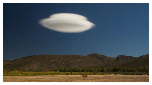 Lenticular Cloud - UFO?  (PRNewsFoto/The Messiah Network)