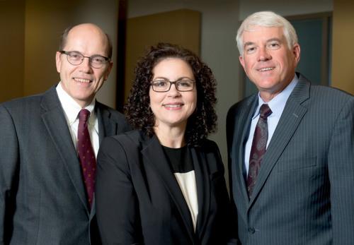Stinson Leonard Street Co-Managing Partner Lowell V. Stortz, Deputy Managing Partner Allison M. Murdock, and ...