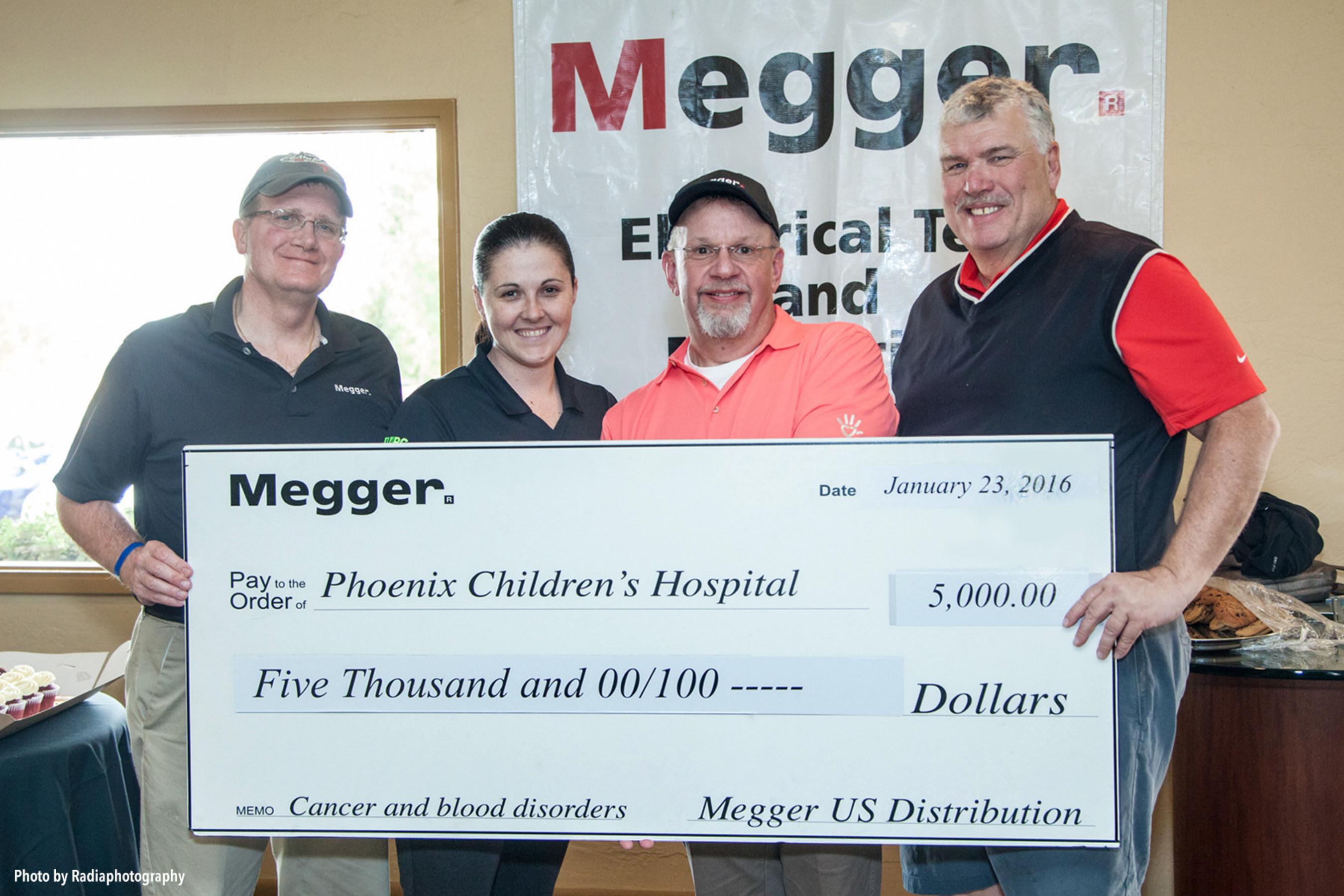 Megger Raises $7,500 for Phoenix Children's Hospital Foundation