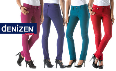 dENiZEN from the Levi's Brand Introduces New Collection of Totally Shaping Jeans Exclusively at Target. Limited Edition Women's Jewel-Tone Colored Denim for the Holidays Priced at $27.99.  (PRNewsFoto/dENiZEN)