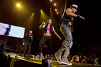 Zumba(R) Celebrities Gina Grant, Tanya Beardsley and Beto Perez Perform with Pitbull in Key Cities for the Hottest Concert Tour on the Planet.  (PRNewsFoto/Zumba Fitness, Greg Watermann)