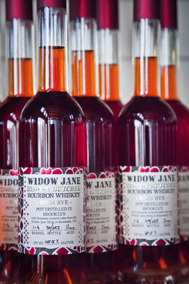 Widow Jane Bloody Butcher Bourbon Whiskey High Rye is distilled in Brooklyn with limestone mineral water from the Widow Jane Mine in Rosendale, NY.