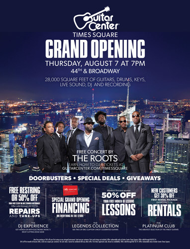 GUITAR CENTER CELEBRATES NEW TIMES SQUARE STORE WITH THE ROOTS LIVE IN CONCERT (PRNewsFoto/Guitar Center)