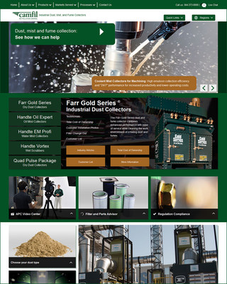 Camfil APC web site (PRNewsFoto/Camfil Air Pollution Control)