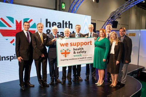 Launch of Health & Safety Week at Safety & Health Expo, London ExCeL, Jun 17-19, 2014