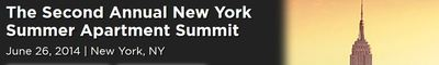The Second Annual New York Summer Apartment Summit will bring together all of NYC's multifamily executives under one roof, including 400+ commercial real estate investors, debt sources, equity sources, developers and service providers who seek new opportunities and new business relationships. This conference will convene more five-borough investors representing the true range of NYC acquisitions sources, from high net worth and entrepreneurial funds, medium and growing investors, to institutional investors. The event is the most exciting multifamily conference of 2014. (PRNewsFoto/CAPRATE Events)